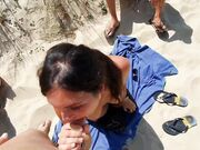 Trio fuck at the beach with married woman and hubby and a friend